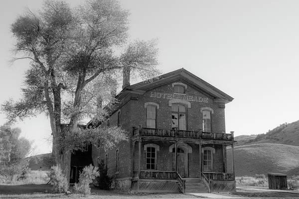 Photograph - Hotel Meade Bw by Teresa Wilson