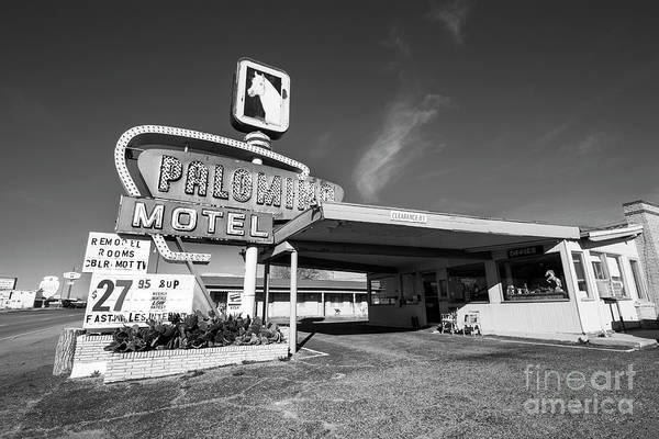 Palomino Photograph - Hotel Palomino In Black And White by Twenty Two North Photography
