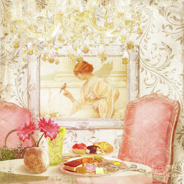 Wall Art - Painting - Hotel Paris, Tea Room For Lunch Circa 1900 by Tina Lavoie