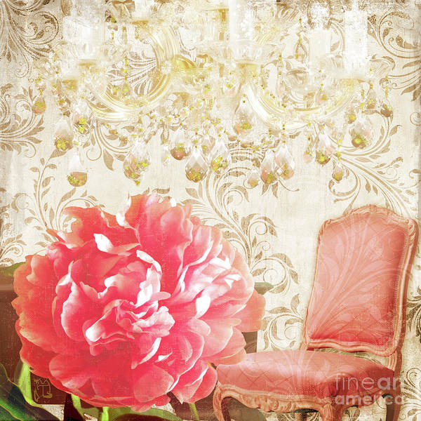 Wall Art - Painting - Hotel Paris Reception, Circa 1900 Paris France Pink Camelia by Tina Lavoie