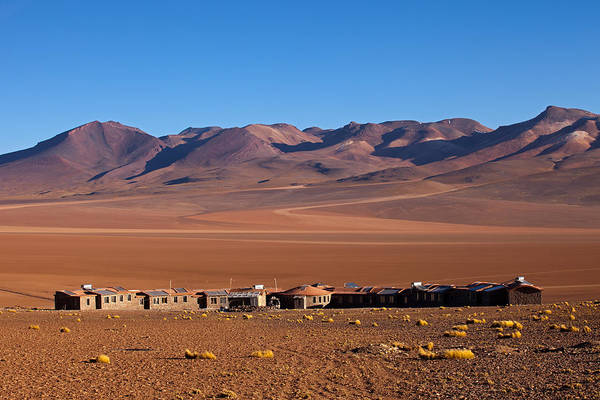 Photograph - Hotel Tayka Del Desierto In Siloli Desert by Aivar Mikko