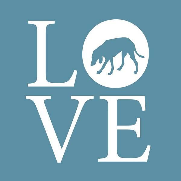 Digital Art - Hound Dog Love by Nancy Ingersoll