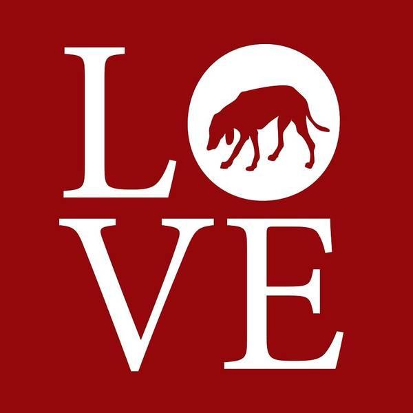 Digital Art - Hound Dog Love Red by Nancy Ingersoll