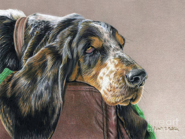 Couch Wall Art - Painting - Hound Dog by Sarah Batalka