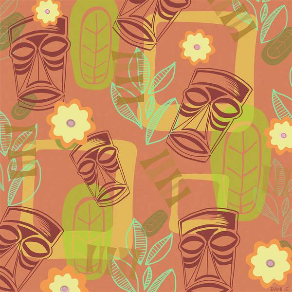 Aloha Wall Art - Painting - Hour At The Tiki Room by Little Bunny Sunshine