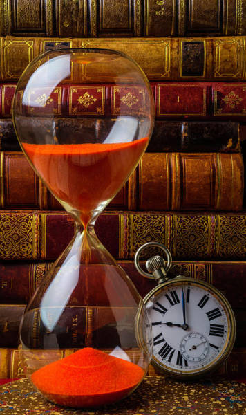 Wall Art - Photograph - Hourglass And Pocket Watch by Garry Gay