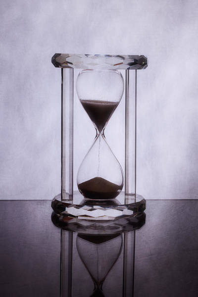 Clock Wall Art - Photograph - Hourglass - Time Slips Away by Tom Mc Nemar