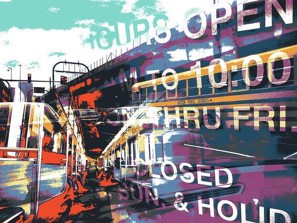 Serif Wall Art - Mixed Media - Hours Open by Shay Culligan