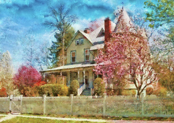 Photograph - House - A Victorian Springtime by Mike Savad