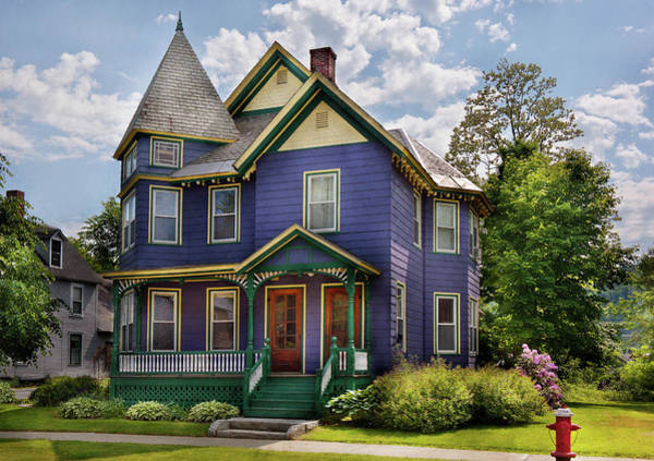 Photograph - House - Victorian - Waterbury Vt - There Lived An Old Lady Who Lived In A House by Mike Savad