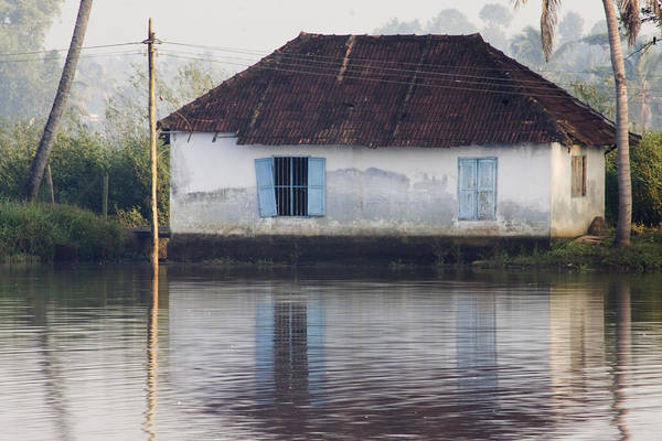 Kerala Photograph - House Along The Kerala Backwaters by Andrew Soundarajan