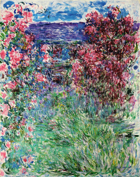 Slate Painting - House Among The Roses by Claude Monet