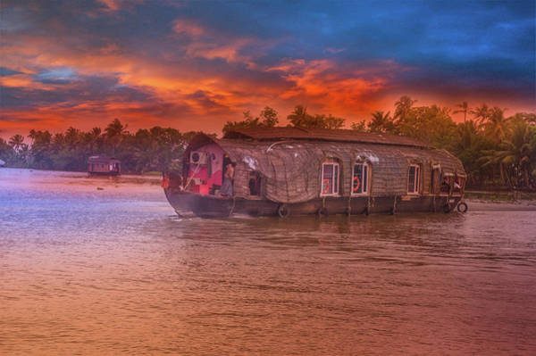 Kerala Photograph - House Boat by Art Spectrum
