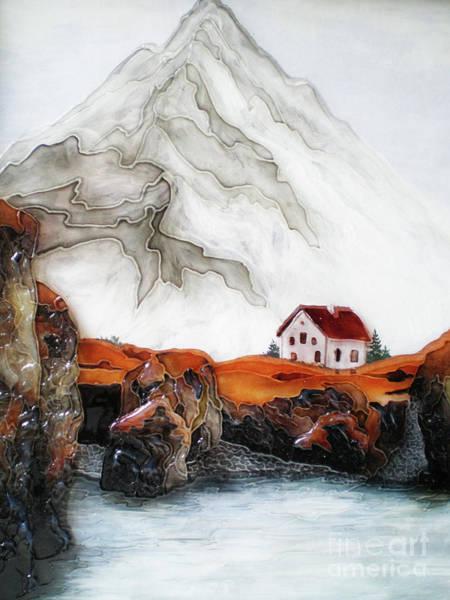 Vitrage Wall Art - Painting - House By The Sea by Kseniia Chorna