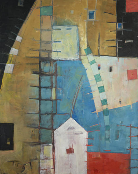 Painting - House By The Tracks by Tim Nyberg