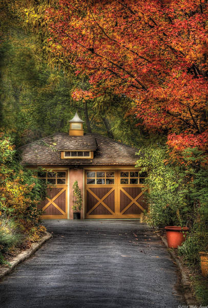 Photograph - House - Classy Garage by Mike Savad