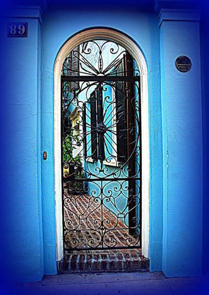 Photograph - House Door 4 In Charleston Sc  by Susanne Van Hulst