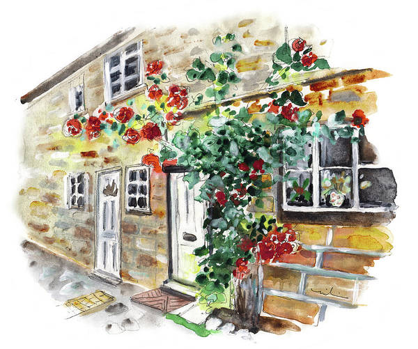 Painting - House Entrance In Osmotherley by Miki De Goodaboom