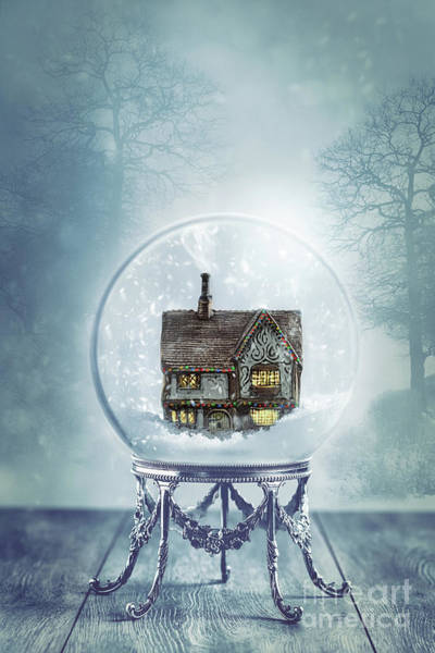 Wall Art - Photograph - House In Glass Crystal Ball by Amanda Elwell