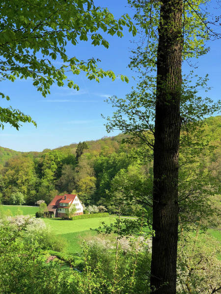 Photograph - House In Green Spring Landscape In Germany by Matthias Hauser