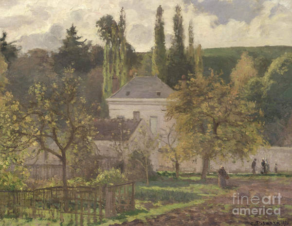 Wall Art - Painting - House In The Hermitage by Camille Pissarro