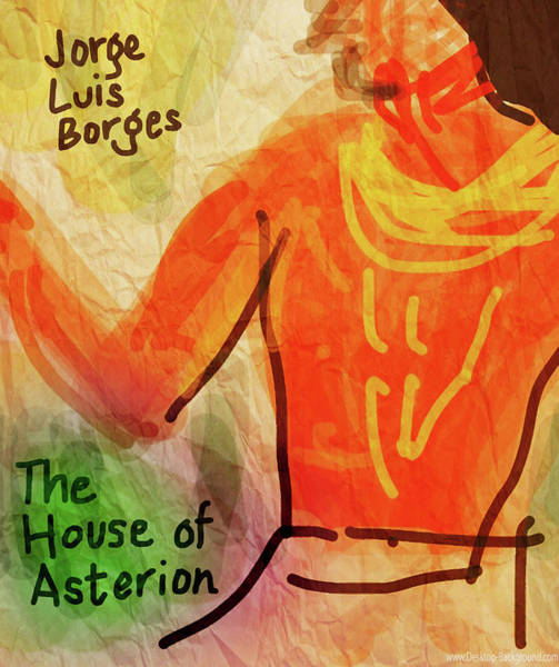 Drawing - House Of Asterion Poster Borges  by Paul Sutcliffe