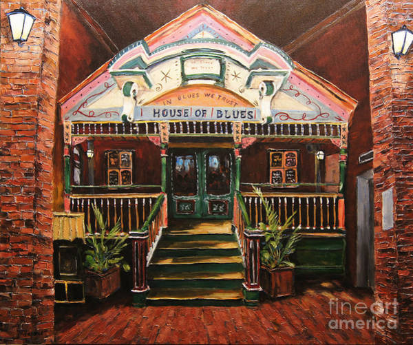Wall Art - Painting - House Of Blues New Orleans By Prankearts by Richard T Pranke