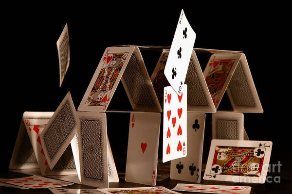 Card Wall Art - Photograph - House Of Cards by Jan Piller
