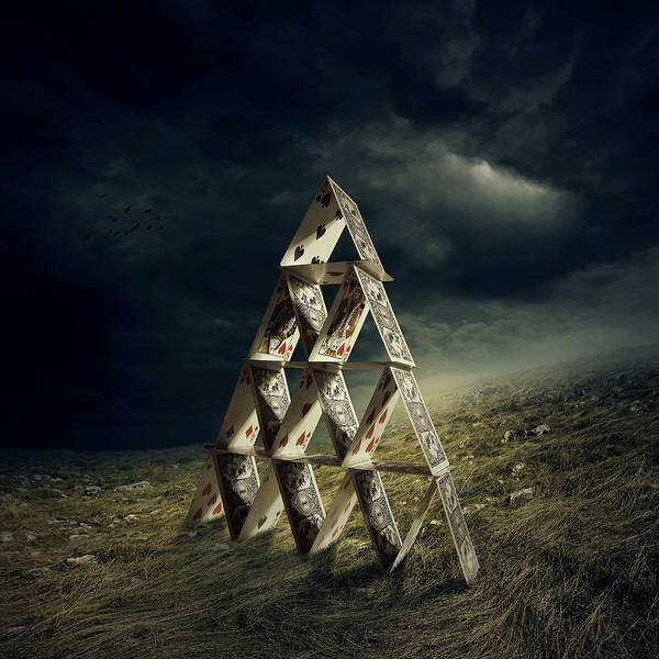 Cloud Digital Art - House Of Cards by Zoltan Toth