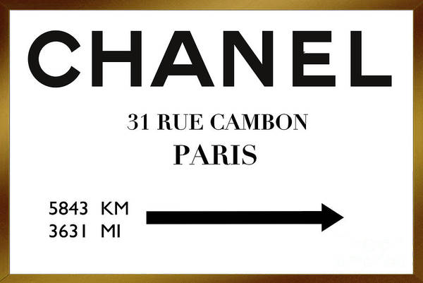 Vogue Mixed Media - House Of Chanel, 31 Rue Cambon, New York To Paris 5843 Km 3631 Mi by Thomas Pollart