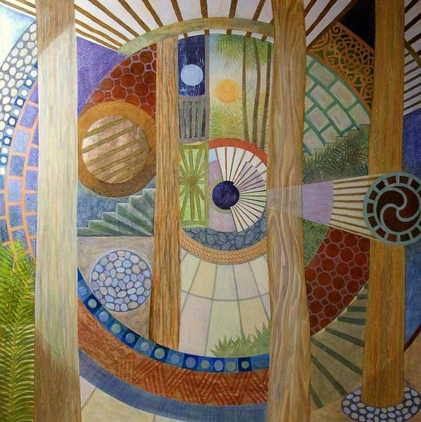 Wall Art - Painting - House Of The Meditator by Jennifer Baird