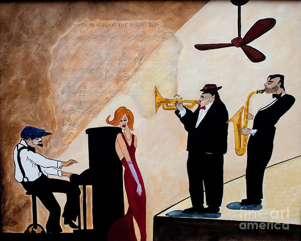 Sax Painting - House Of The Rising Sun by Barbara McMahon