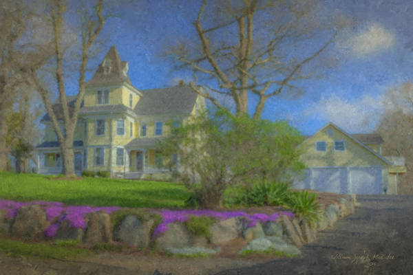 Painting - House On Elm St., Easton, Ma by Bill McEntee