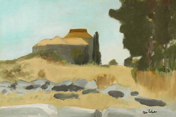Avi Painting - House On Hill Talbieh Jerusalem by Avi Lehrer
