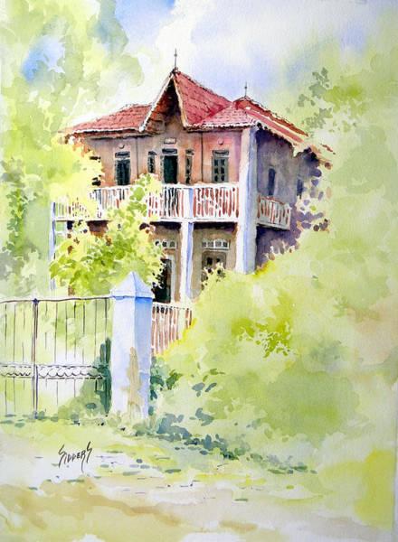 Savannah Painting - House On Jones Street by Sam Sidders