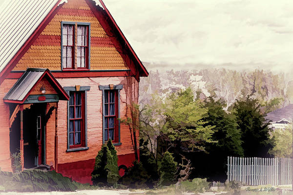 Photograph - House On The Hill by Bonnie Willis