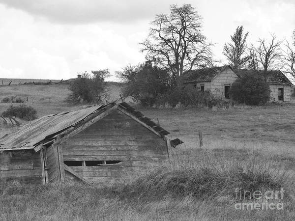 Photograph - House On The Hill In Black And White by Charles Robinson