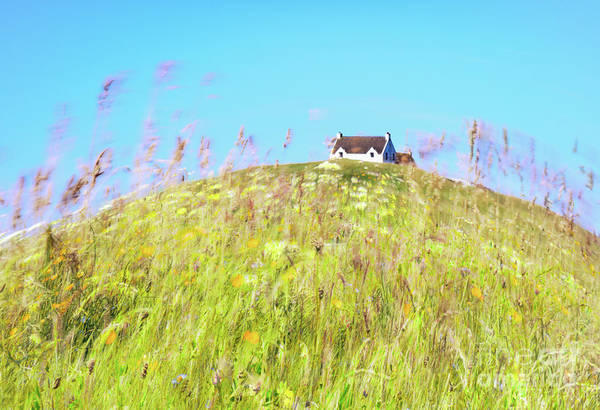 Impression Photograph - House On The Hill by Janet Burdon
