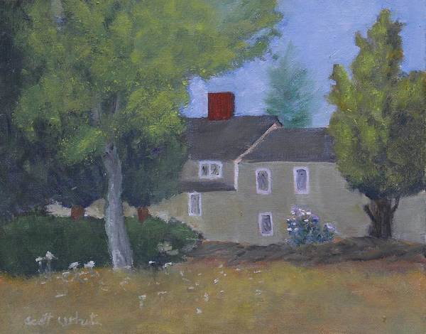 Painting - House On The Hill by Scott W White