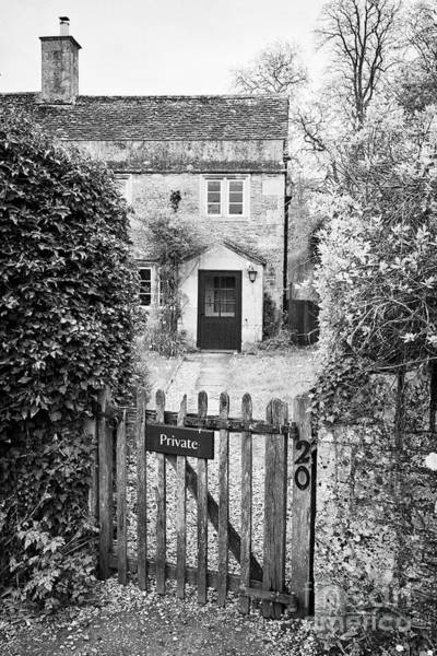 Wall Art - Photograph - House With Private Sign On The Gate In Lacock Village Used As The Harry Potters Parents House In The by Joe Fox