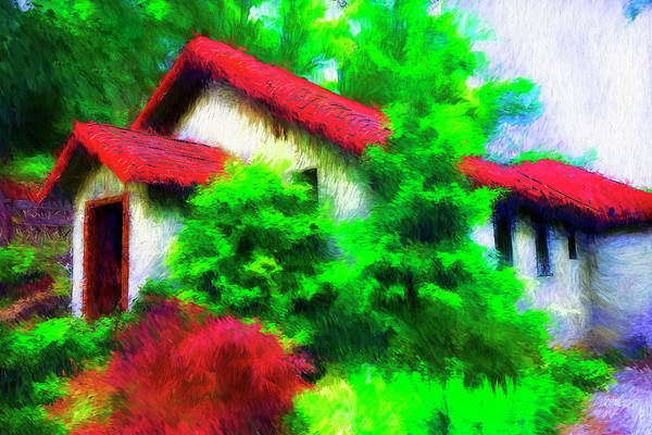 Photograph - House With Red Roof Series 5113y by Carlos Diaz