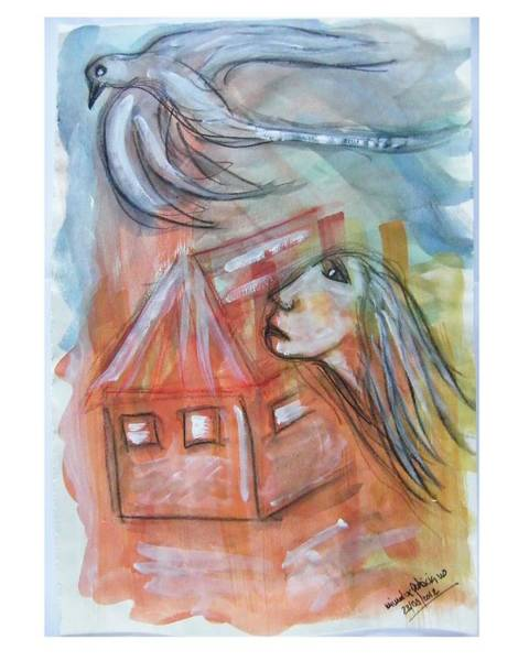 House Without A Door - Haus Ohne Tuer Art Print