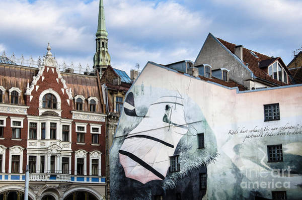 Photograph - Houses And Wallpainting  In The Old Town Of Riga by RicardMN Photography