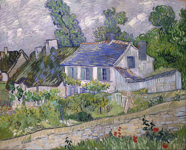 Alpine Meadow Painting - Houses At Auvers 1890 by Vincent Van Gogh