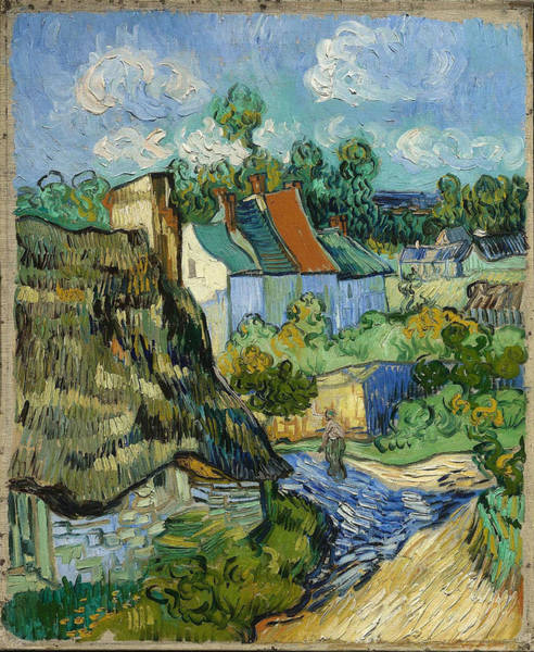 Painting - Houses In Auvers by Van Gogh