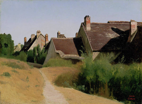 Painting - Houses Near Orleans by Jean-Baptiste-Camille Corot