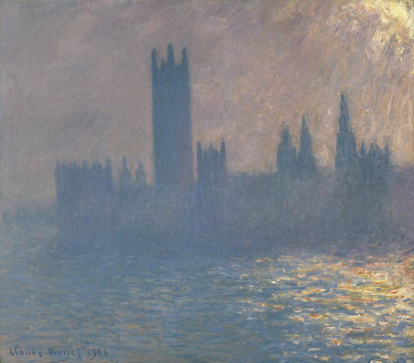 Painting - Houses Of Parliament, Sunlight Effect by Claude Monet