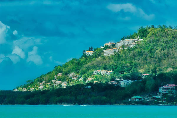 Photograph - Houses On Hillside In St Lucia by Gary Slawsky