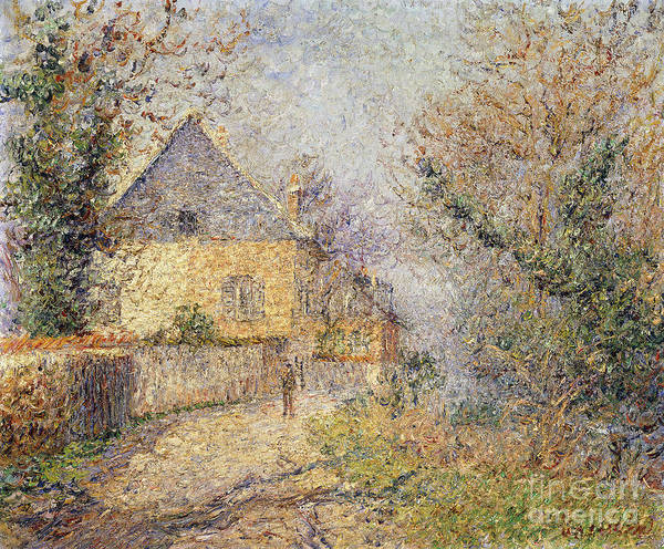 Wall Art - Painting - Houses On The Banks Of The Eure by Gustave Loiseau