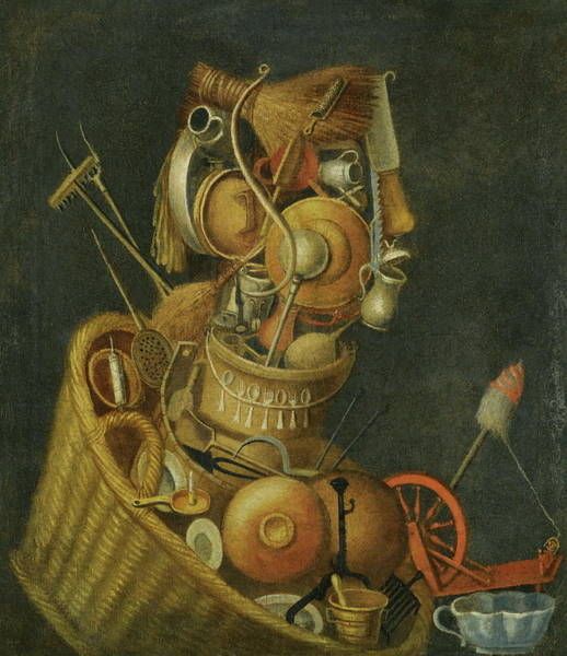 Wall Art - Painting - Housewife by Giuseppe Arcimboldo